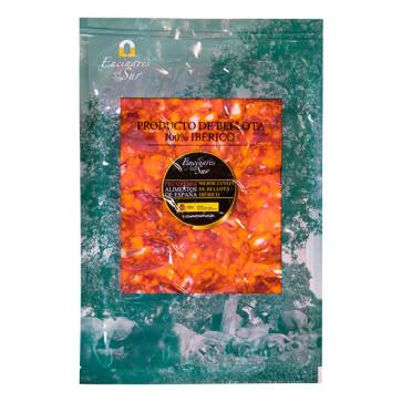 """Caja de 10 sobres de 100 gramos de Chorizo de Bellota 100% Ibérico """"Encinares del Sur"""""""